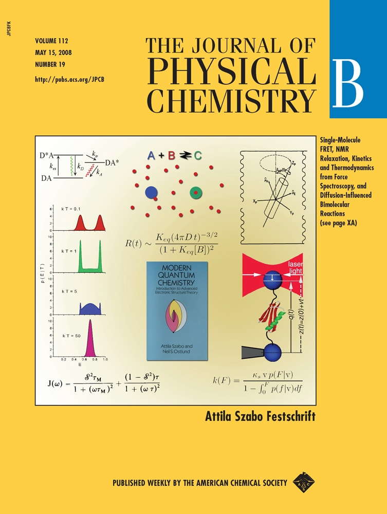 Photo of the cover of The Journal of Physical Chemistry.