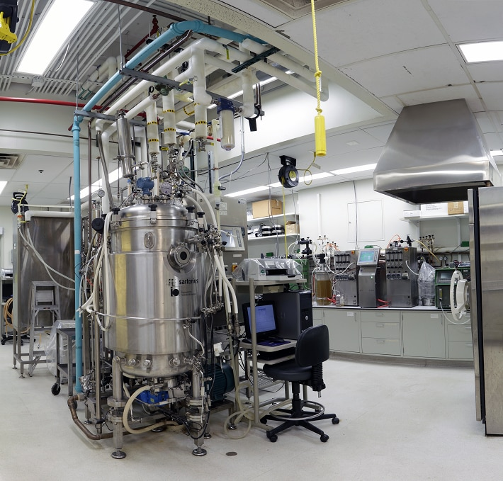 Photo of the Biotechnology laboratory pilot production facility