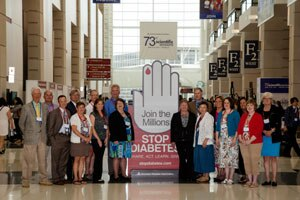 A group of participants in the NIDDK-funded Diabetes Control and Complications Trial
