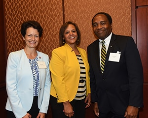 Photo of NIDDK Director Dr. Griffin P. Rodgers with Rep. Kelly (center) and Shereen Arent