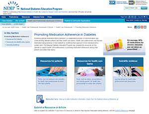Image of front cover of new materials - Medication Adherence in Diabetes