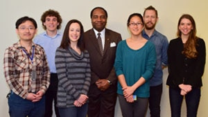 Photo of Dr. Griffin P. Rodgers with award winners of the NIDDK Fellow Scientific Conference
