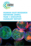 Cover of Human Islet Research Network Executive Summary Report