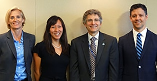 Photo (from left to right) Dr. Camilla Forsberg, Dr. Kay Tye, Dr. Gregory Germino, and Dr. David Pagliarini