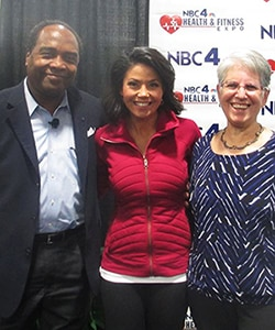 Photo of Dr. Griffen P. Rodgers, Dr. Sue Yanovski, and NBC news anchor Angie Goff