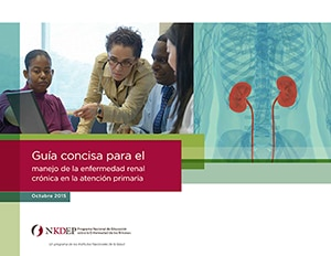 Cover thumbnail image of spanish version of A Concise Guide for Managing Chronic Kidney Disease publication