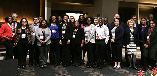 Photo of participants gathering at the 2016 annual meeting of the Network of Minority Health Research Investigators.