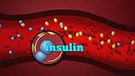 Graphic image of insulin