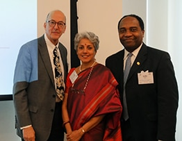 Dr. Roger Glass, Dr. Soumya Swaminathan, and Dr. Griffin Rodgers