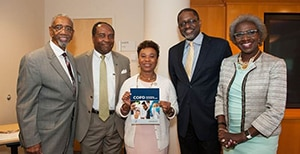 Congressional Black Caucus members pose for photo during visit to the NIH Clinical Center