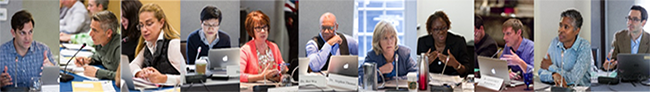 Eleven photos of NIH peer reviewers grouped together
