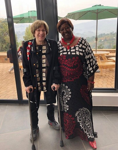 Dr. Anne Sumner and Dr. Agnes Binagwaho