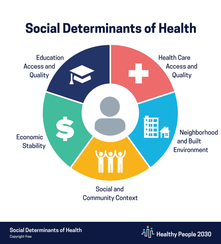 Social determinants of health infographic