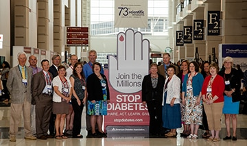 Photo of a group of participants in the NIDDK-funded Diabetes Control and Complications Trial