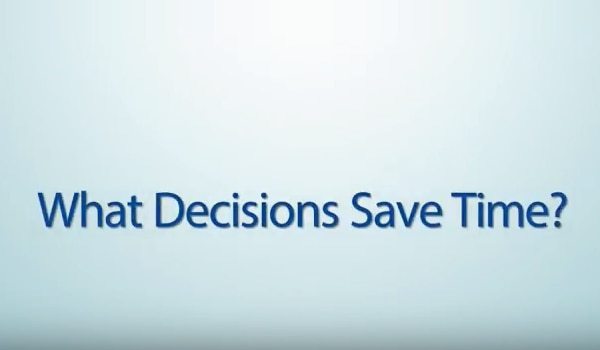 Screenshot of What Decisions Save Time? YouTube video
