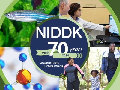 NIDDK 70th Anniversary graphic.