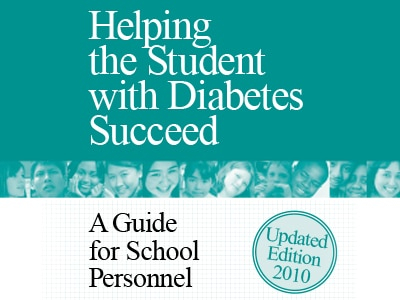 Cover of the publication, Helping the Student with Diabetes Succeed: A Guide for School Personnel