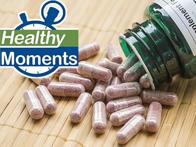Supplement bottle and supplement capsules