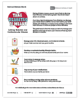 National Diabetes Month Flyer