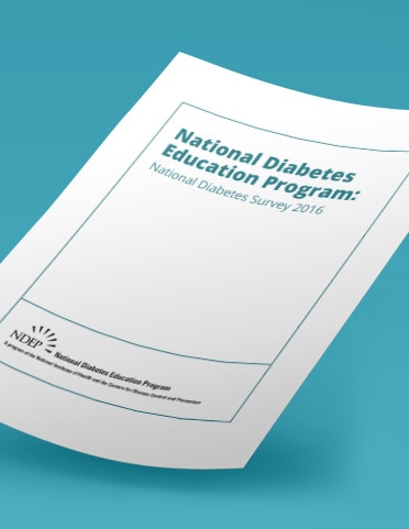 National Diabetes Education Program Report Cover