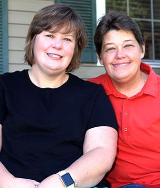 A photograph of Michelle and Paula
