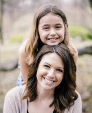 Photo of Laura and her daughter from the SHARE story.