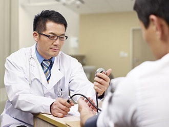 Male physical exam erection