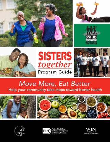 "The ""Sisters Together"" program guide brochure cover"
