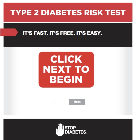Click to take the Diabetes Risk Test.