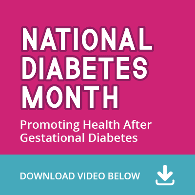 National Diabetes Month social media thumbnail for video.