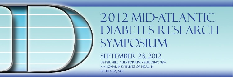 Banner for the 2012 Mid-Atlantic Diabetes Research Symposium.