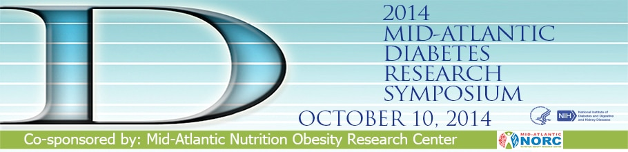 Banner for the 2014 Mid-Atlantic Diabetes Research Symposium.