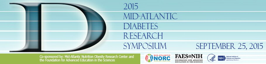 Banner for the 2015 Mid-Atlantic Diabetes Research Symposium.