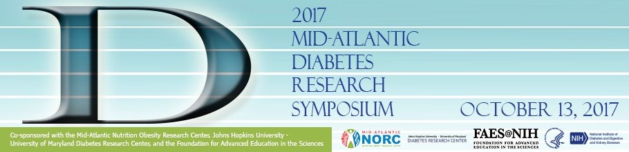 Banner for the 2017 Mid-Atlantic Diabetes Research Symposium.