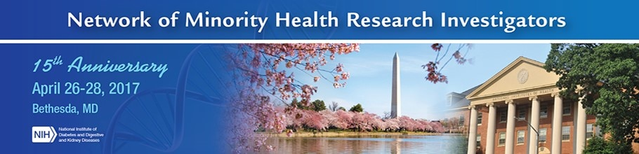 Banner for the 2017 Network of Minority Health Research Investigators meeting.