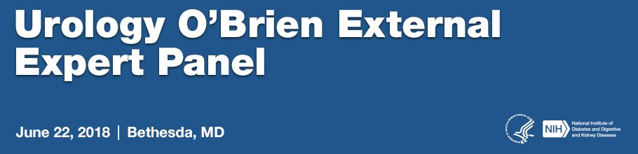 Urology O'Brien External Expert Panel Banner