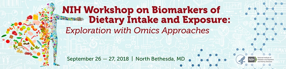 NIH Workshop on Biomarkers of Dietary Intake and Exposure: Exploration with Omics Approaches web banner
