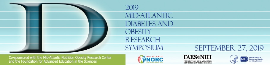 Banner for the 2019 Mid-Atlantic Diabetes and Obesity Research Symposium