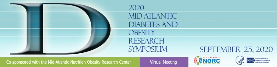 Web banner for the 2020 Mid-Atlantic Diabetes and Obesity Research Symposium