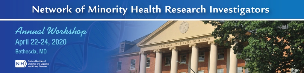 Banner image for NMRI Annual Workshop meeting featuring a National Institutes of Health building