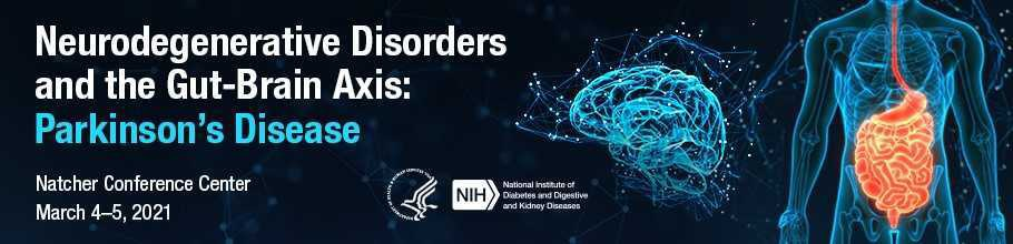 Web banner for the Neurodegenerative Disorders and the Gut-Brain Axis: Parkinson's Disease meeting