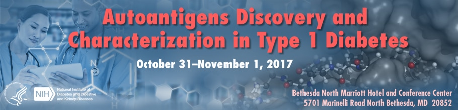 Banner for the 2017 Autoantigens Discovery and Characterization in Type 1 Diabetes Meeting.