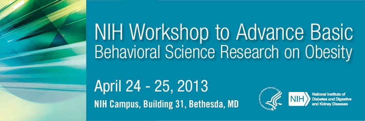 Banner for the 2013 NIH Workshop to Advance Basic Behavioral Science Research on Obesity.