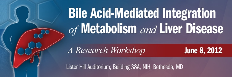 Banner for the 2012 Bile Acid-Mediated Integration of Metabolism and Liver Disease Workshop.