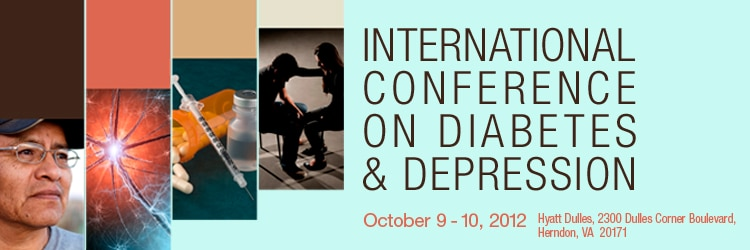 Banner for the 2012 International Conference on Diabetes and Depression Meeting.