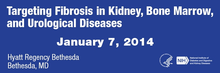 Banner for the 2014 Targeting Fibrosis in Kidney, Bone Marrow, and Urological Diseases Meeting.