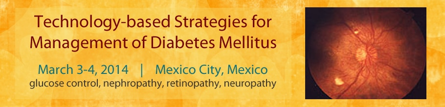 Banner for the 2014 Technology-based Strategies for Management of Diabetes Mellitus Meeting.