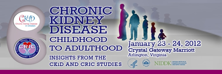 Banner for the 2012 Chronic Kidney Disease Childhood to Adulthood Meeting.