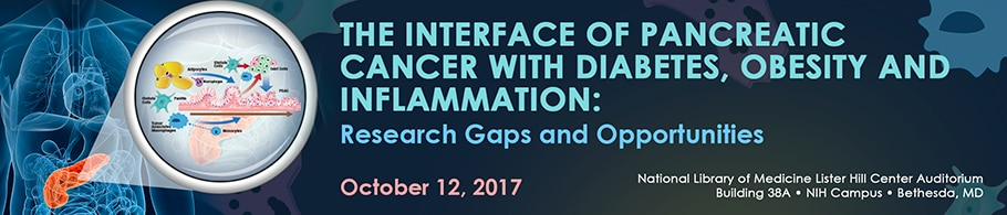 Banner for the 2017 The Interface of Pancreatic Cancer With Diabetes, Obesity and Inflammation: Research Gaps and Opportunities Meeting.