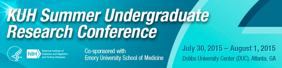 Banner for the 2015 KUH Summer Undergraduate Research Conference.